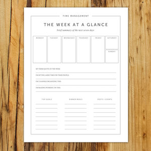 Free Weekly Planning Worksheet