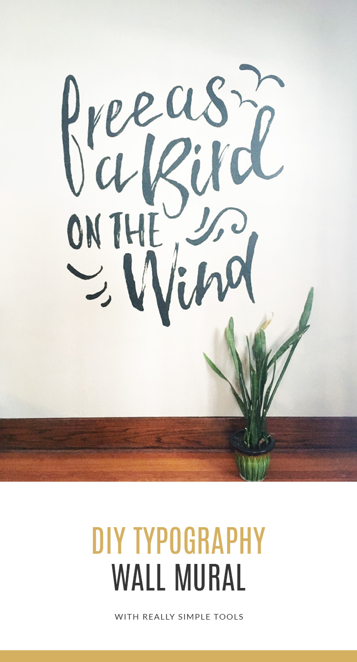 DIY Typography Wall Mural