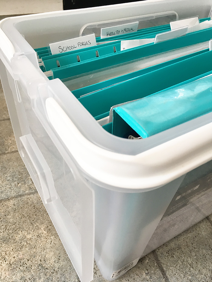 Folder & Bin for Paper Clutter