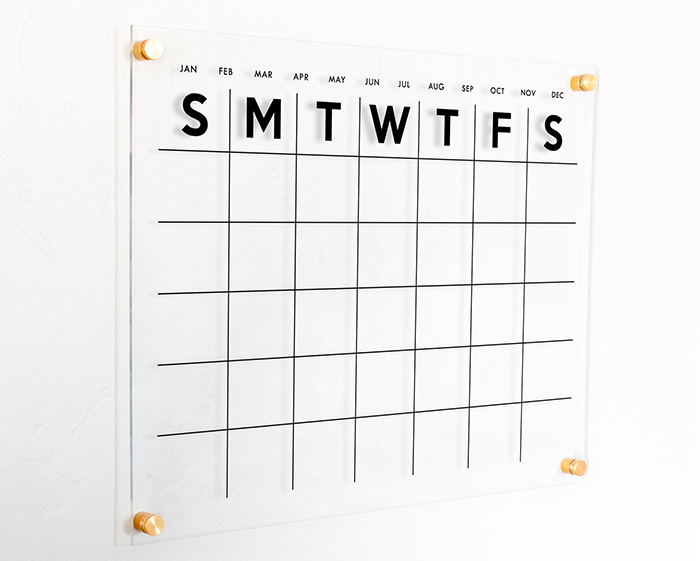Transparent Wall Calendar - Gift Ideas for Creatives