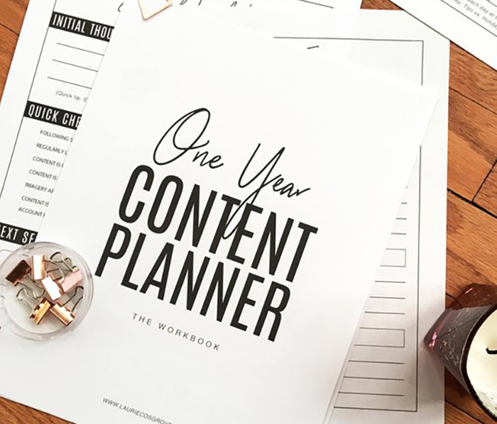 One Year Content Planner - Gift Ideas for Creatives