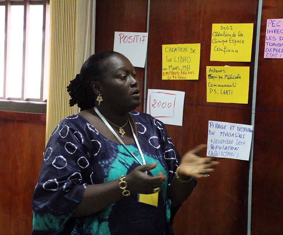 Restitution de travaux groupes à l'atelier de Abidjan