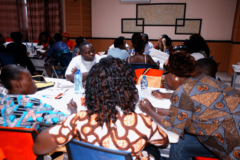 Group discussion with participants from Benin