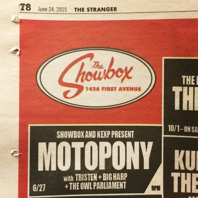 TOMORROW NIGHT!!! @motoponymusic @bigharpband #Tristen at the #Showbox