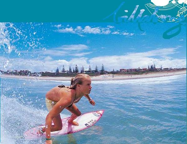 An image of me surfing used for Billabong advertising when I was younger.  Image: Billabong