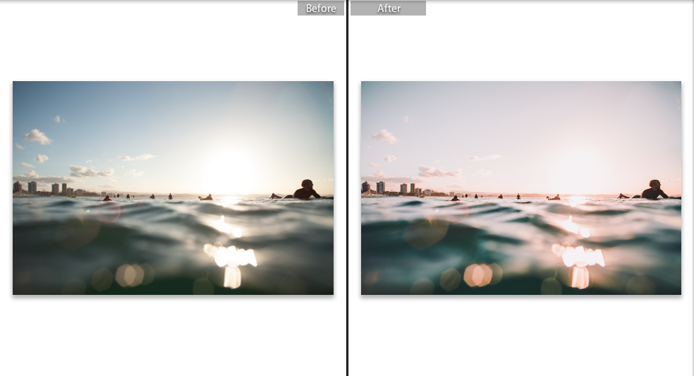 On the left you can see the RAW image and on the right is the finished edited image. I usually just edit a photo until my vision of the image as a finished art piece comes to life. Something I like to focus on is the   TONE CURVE ADJUSTMENT ,  as this helps me to bring the smooth tones out in a photo. See below for the edit I used on this photo.