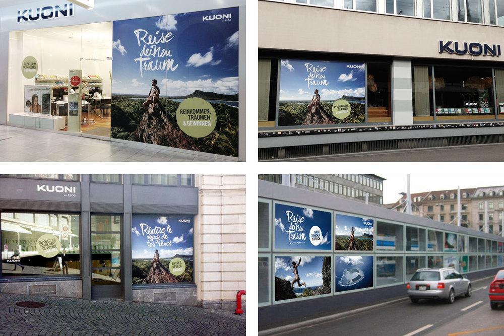 Reise deinen Traum – Campaign. Window Advertising Decal.