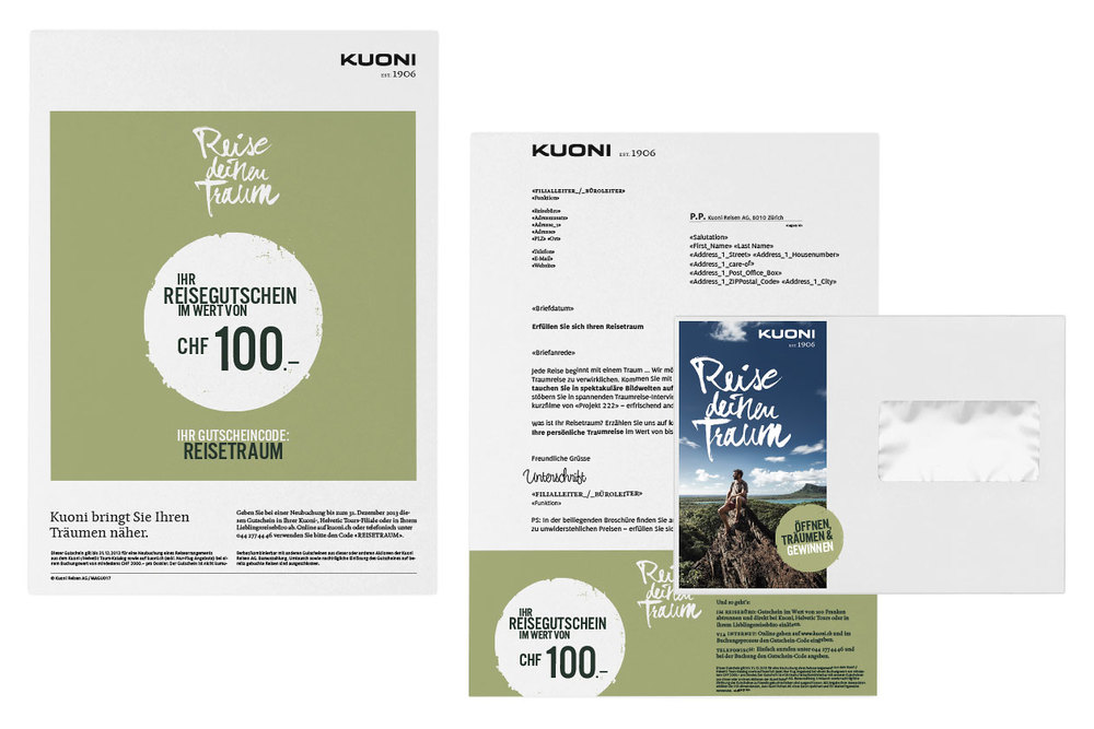 Reise deinen Traum – Campaign. Stationery.