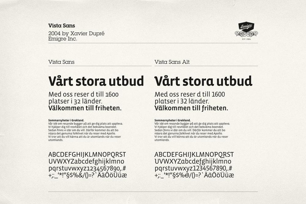 New Identity for Apollo. Font Vista Sans.