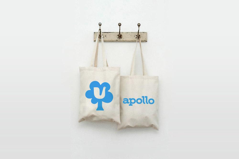 New Identity for Apollo. Tote Bags.