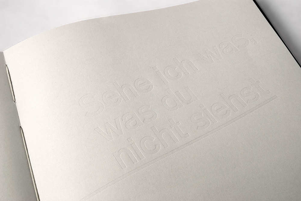 Space Between. Metal Type No Colour Print.