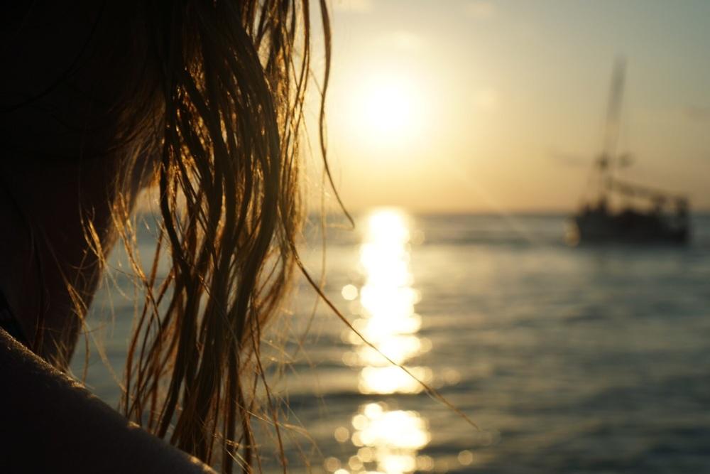 Sonnenuntergang am Split.