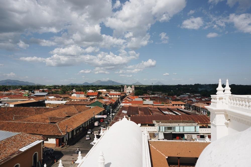 Aussicht von der Catedral de León.