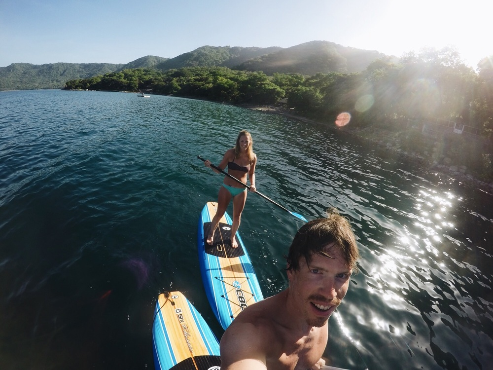 Unser erstes Mal Stand-Up Paddling.