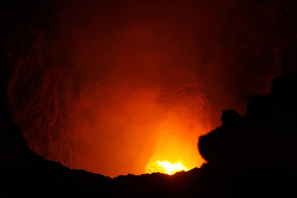 Brodelnde Lava: Vulkan Masaya.