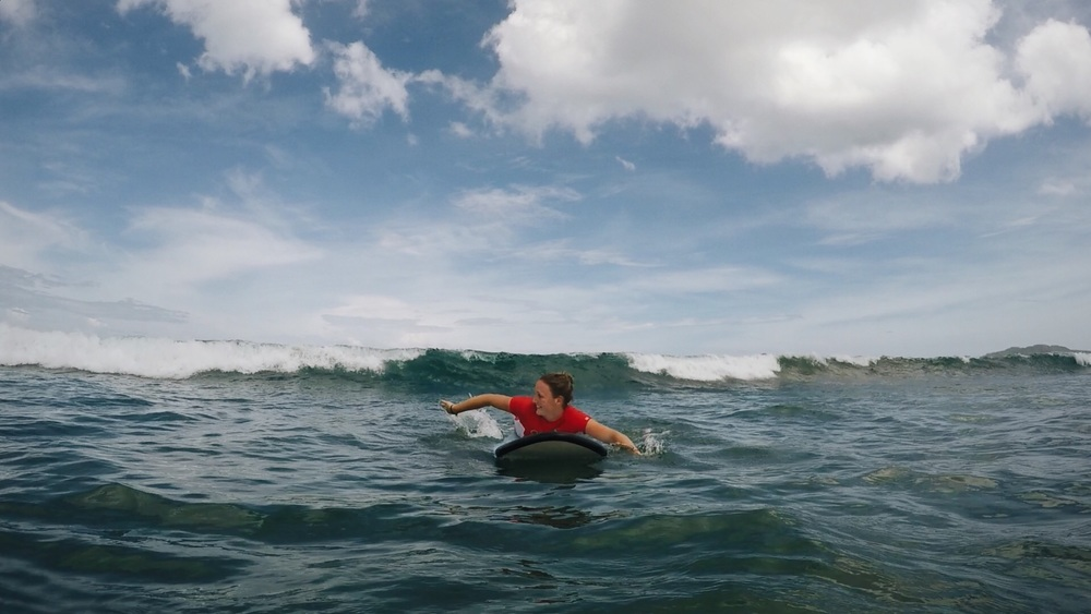 Surfen in Tamagringo.
