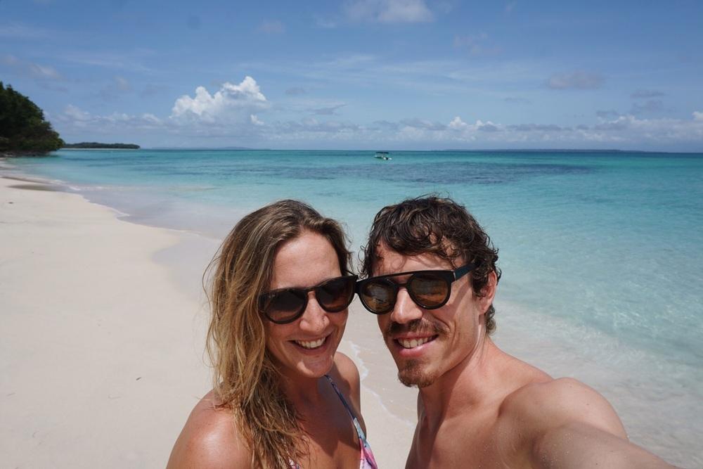 Selfie auf der Isla Zapatilla.
