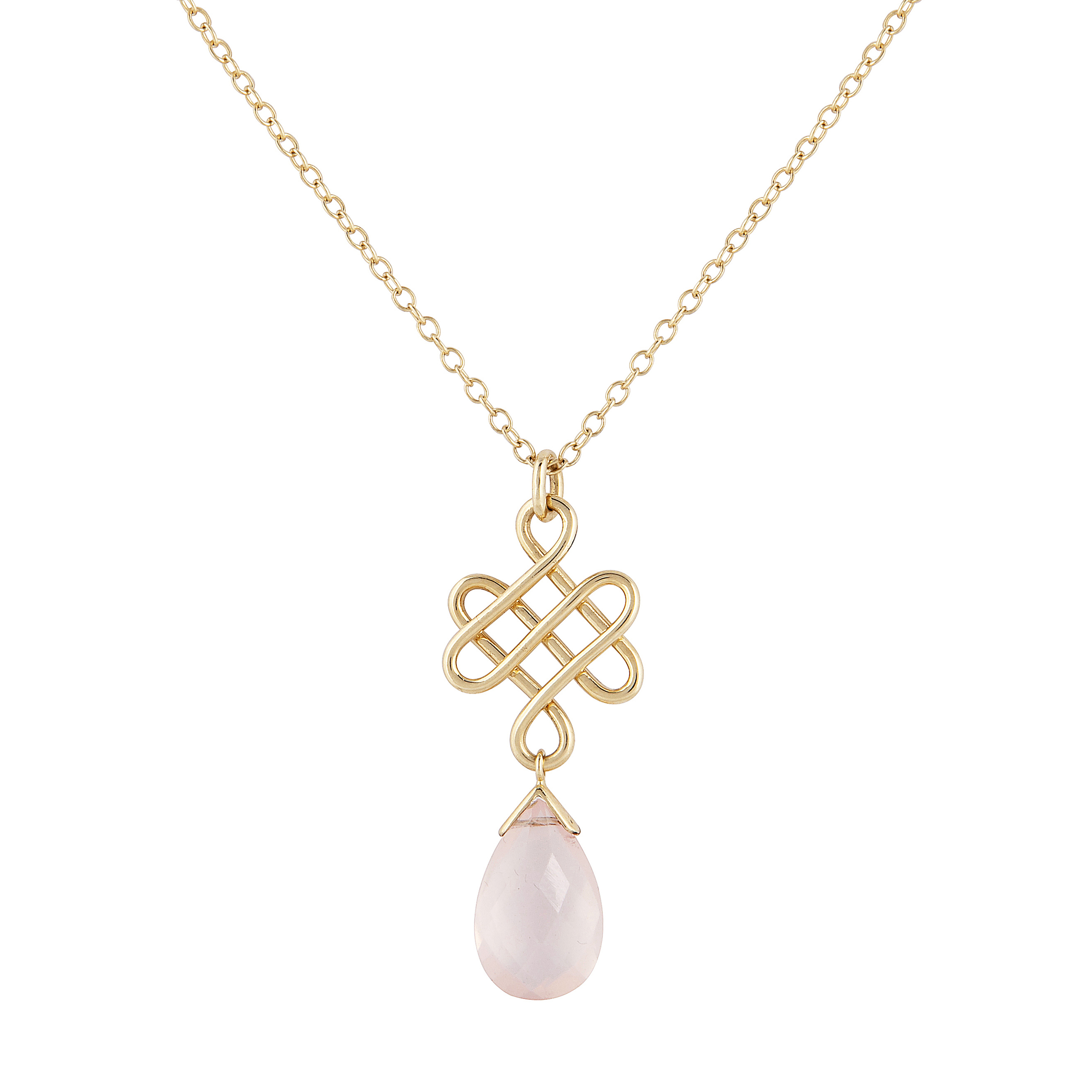 plated stafford shop knot pendant gold