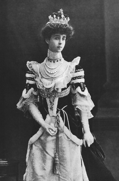 Consuelo Vanderbilt in her Duchess' robes for the 1902 Coronation of Edward VII.