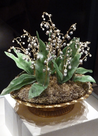 The most important Faberge piece in America: the Empress Alexandra's Lily of the Valley Basket.