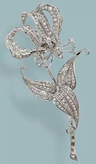 The Rhodesian Flame Lily Brooch