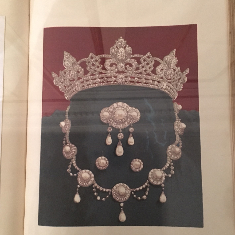 The original drawing of the wedding set the future Edward VII gave his wife, Alexandra of Denmark.