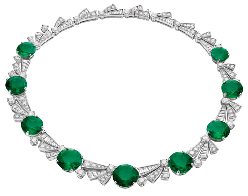 Bvlgari Colombian emerald and diamond necklace.