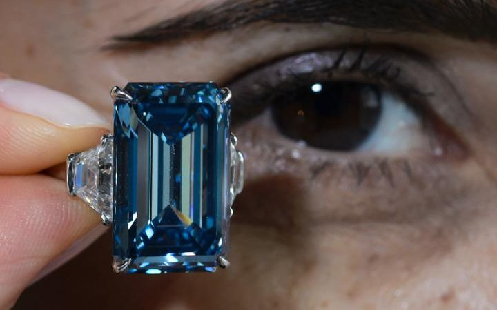 The Oppenheimer Blue Diamond, the most expensive blue diamond ever sold at auction.