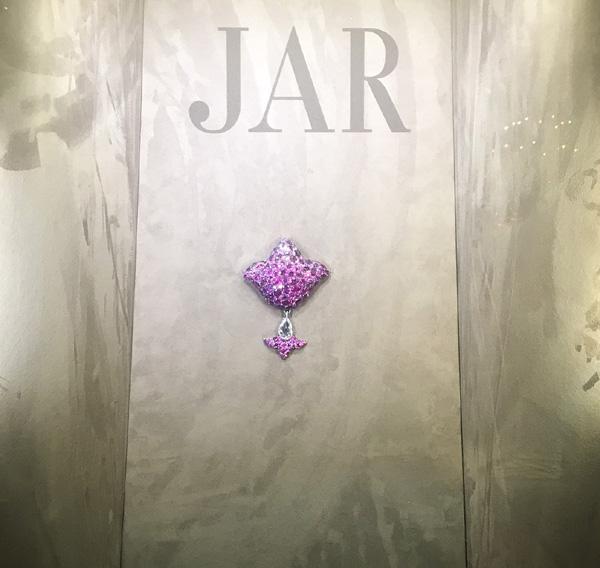 Pink Sapphire Fleur de Lys Brooch by JAR