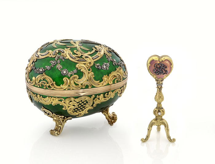 The 1902 Rocaille Egg given to Varvara Kelch by her husband.