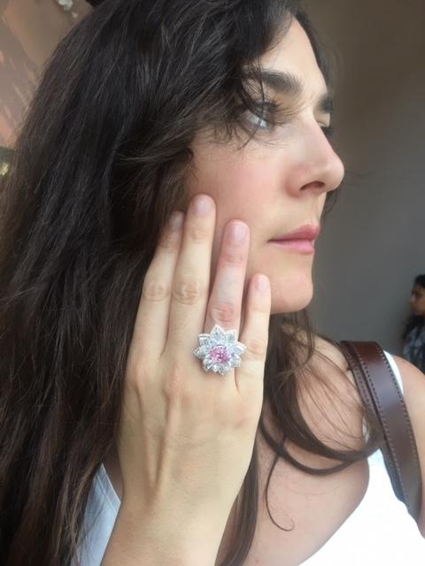 Pretty in Pink: Padparascha sapphire Lotus ring by Nirav Modi.