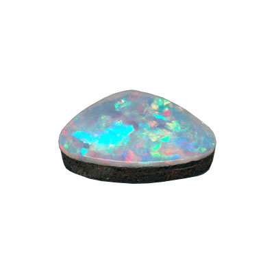 Beware of doublets when buying opals.  The backing material underneath the natural stone can clearly be seen here.