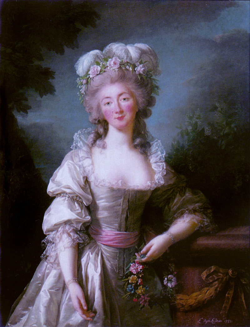 The Comtesse du Barry, Louis XV's beautiful, not very clever mistress.
