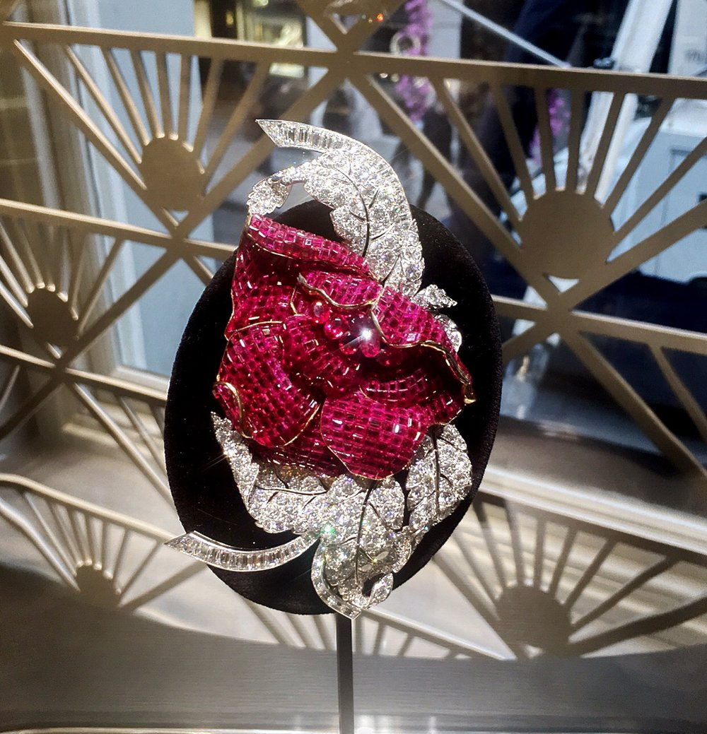 The peony ruby and diamond brooch, a masterclass in invisible setting.