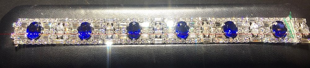 Exceptional sapphire and diamond bracelet by Maria Gaspari.