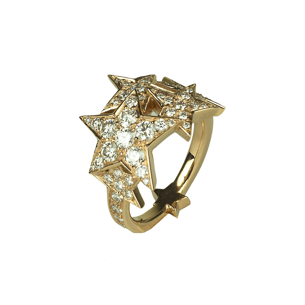 Rock Star ring in rose gold and diamonds.