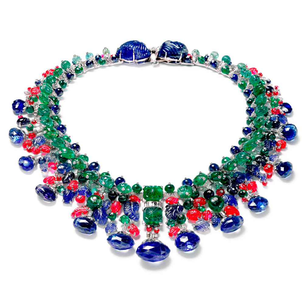 The colourful Hindu Necklace made by Cartier for Daisy Fellowes marked the apogee of the Tutti Frutti style.