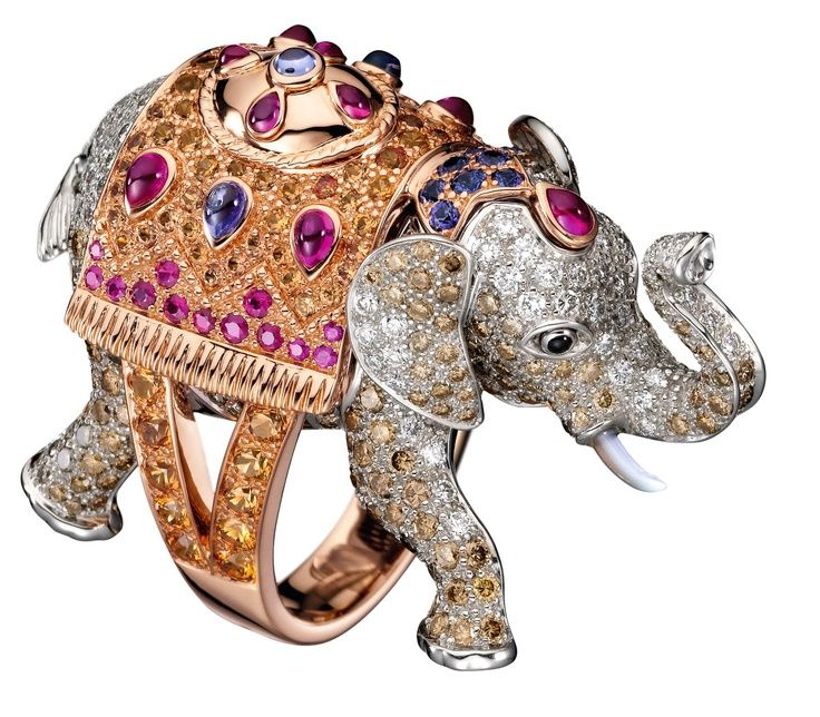 Elephant ring by Boucheron.  Although the body is cast, all pieces are meticulously hand finished.
