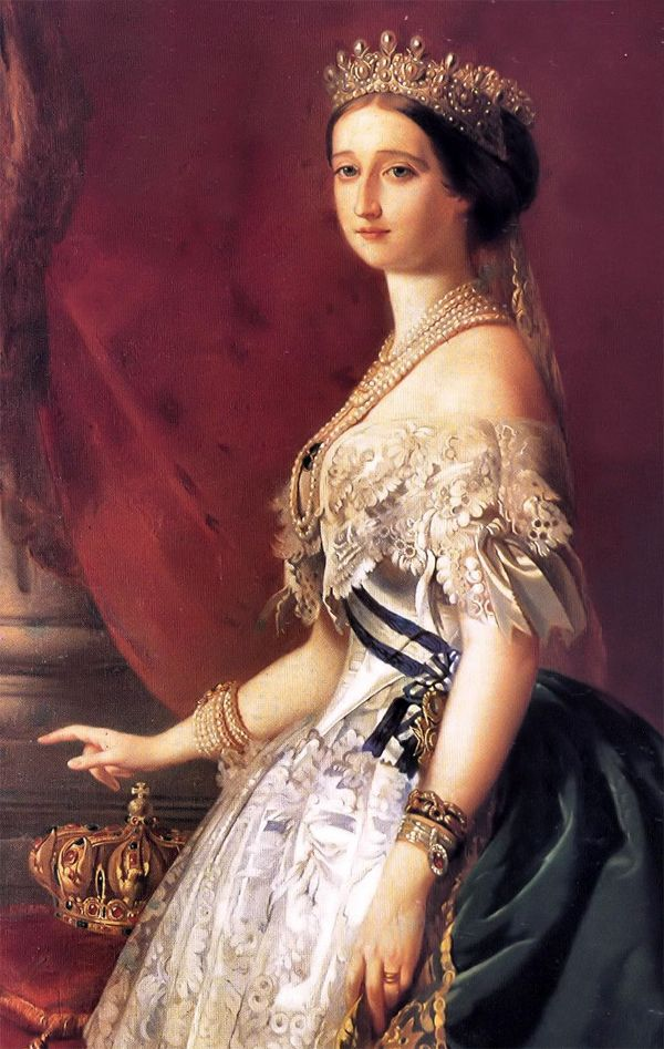 The Empress Eugenie by Winterhalter.  Her love of clothes and jewellery came to define the look of the Second Empire.