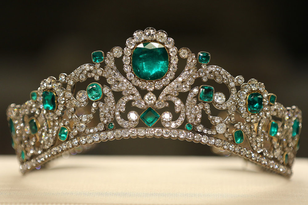 The emerald and diamond tiara made for the Duchesse d'Angouleme, Louis XVI and Marie Antoinette's only surviving child and married to the heir to the throne.  It was sold in 1887 and mysteriously reappeared in the 1960s, its provenance forgotten.  it is now on display at the Louvre.