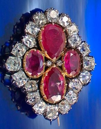 This ruby brooch is all that remains of the Empress Marie Louise's splendid diamond and ruby parure.