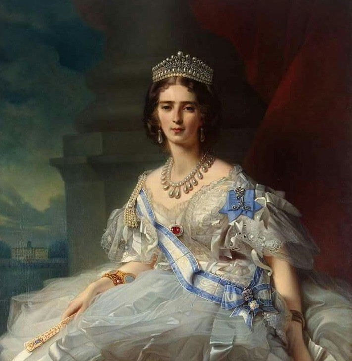 Princess Tatiana Youssoupov wearing her Lover's Knot tiara in a portrait by Winerhalter.