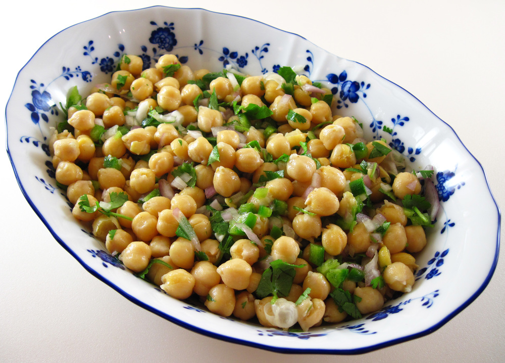 Simple indian chickpea salad from  inthekitchenwithkath.com