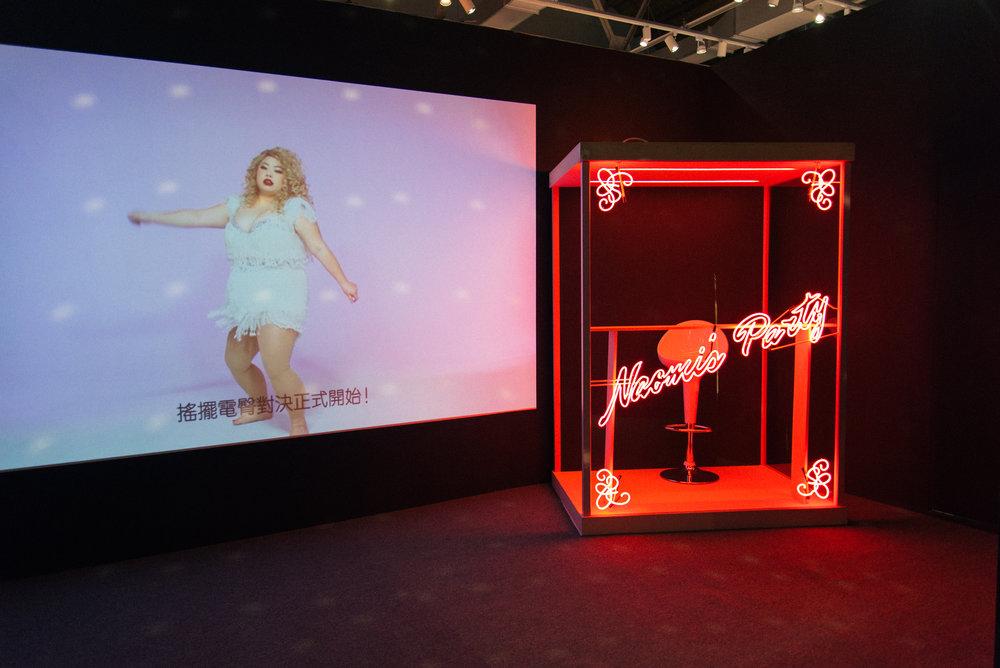 展場以渡邊直美的房間為靈感,這間是特別為了臺灣展所設置的「檳榔攤」,惡搞的設計逗的粉絲哈哈大笑。