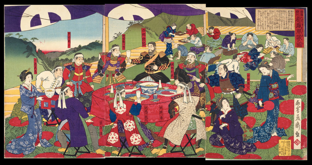 西南戦記都城軍議圖・永嶌孟斎繪©国立国会図書館