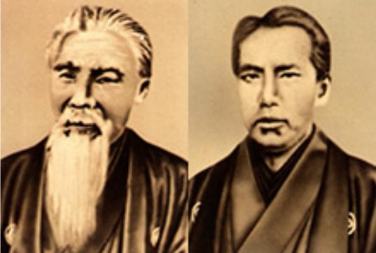 木村安兵衛(左)與次男木村英三郎創辦文英堂。© 2017 GinzaKimuraya