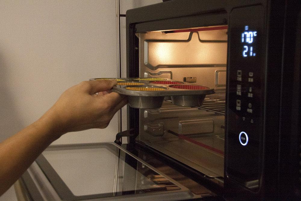 步驟5:放入攝氏170度的烤箱,烤20~25分鐘。