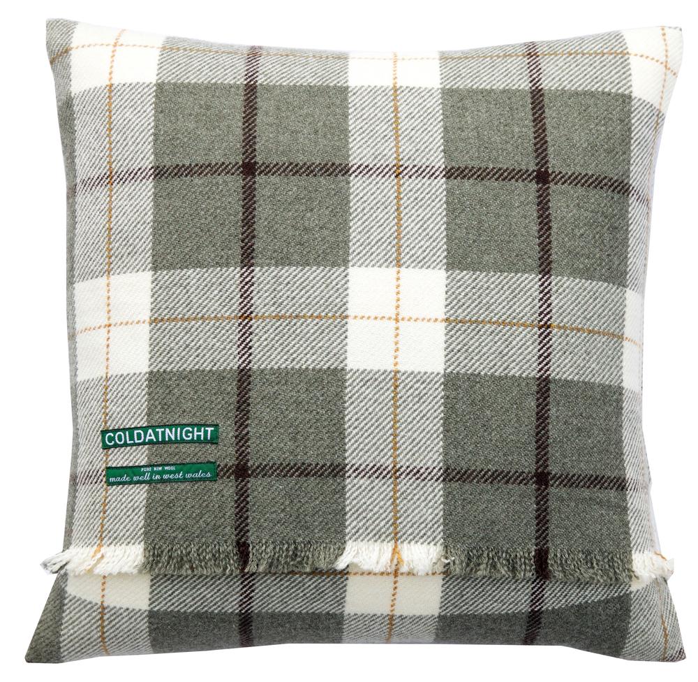 Plaid cushion - £60