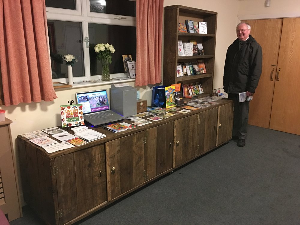 We recently installed our new book stall which was built by Roz Orwin (Roch Furniture)
