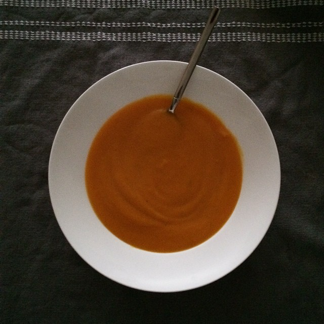 Carrot ginger soup. Just what the doctor ordered :) #carrot #ginger #vegan #cold #healthycooking #soup